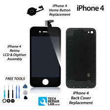 Retina LCD & Planvorlagen + retour + Home Taste Ersatzteilset For iPhone 4
