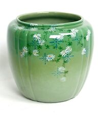 """ROOKWOOD MARKED 6 3/4"""" WHITE DAISYS #244 A ARTIST LAURA FRY VASE or BOWL c1887"""