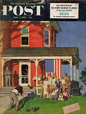 1952 Saturday Evening Post July 5- Reno NV; Tombstone by Clarence B Kelland