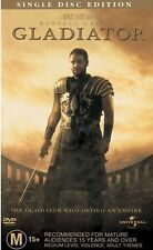 Gladiator (DVD R4) Russell Crowe(Robin Hood/a Beautiful Mind/Noah/Water Diviner)