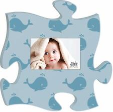 P Graham Dunn Baby Boy Photo Frame Blue Whale Inspirational Puzzle Wall Art