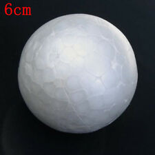 10PCS 6cm White Christmas Decoration Modelling Craft Polystyrene Foam Ball Lot