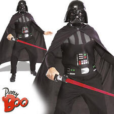 Darth Vader + Lightsaber Adult Star Wars Fancy Dress Movie Costume Accessory Kit