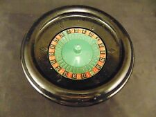 "Roulette wheel Bakelite 7 3/4"" family gambling game night casino fun"