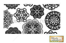 Unity Grandma's Doilies Stamp by Christy Tomlinson, Unmounted Rubber, Stamping