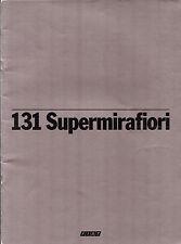 Fiat 131 Supermirafiori 1600 TC Saloon 1978-79 Belgian Market Sales Brochure