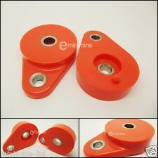 Classic Mini Polyflex Front Subframe Pear Mounts ORANGE pair poly tear drop pair