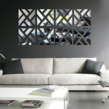 Modern Surface Mirror Wall Stickers Living Room Decor Sticker Wall Home Decor