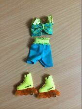 Barbie Doll Rollerblade Roller Skates Outfit Clothes Flicker 'n Flash Shoes Lot