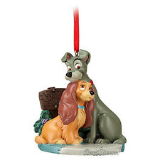 2012 Disney Store Bella Notte LADY & THE TRAMP dog Christmas Holiday Ornament