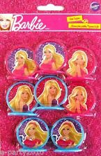 BARBIE High Fashion CUPCAKE TOPPERS (8) ~ Birthday Party Supplies Decorations