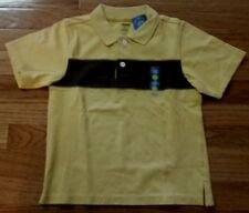 Gymboree Polo Yellow & Brown Short Sleeve Top Shirt Boys Size 4T  NEW