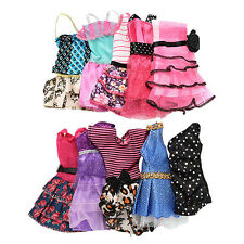 10 in 1 Fashion Handmade Dresses Clothes For Barbie Dolls Style Gift Exotic