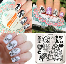BORN PRETTY Nail Art Stamping Plates Butterfly Image Stamp Template 6*6cm BP-X08