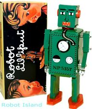 SCHYLLING WIND UP ROBOT LILLIPUT TIN TOY DARK GREEN VERSION - SALE!