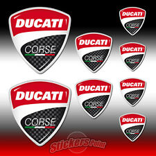 8 Adesivi DUCATI CORSE stickers - new logo - all models - MOTO GP