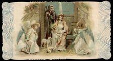 santino cromo-holy card-PAL-NATIVITA',ADORAZIONE DEGLI ANGELI