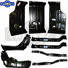 70-2 Chevelle Trunk Floor Pan Brace / Support  Drop Off Filler Panel 9 Piece Kit