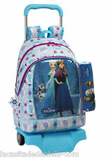 FROZEN Mochila grande con carro ruedas +estuche/Trolley/Big rucksack with wheels