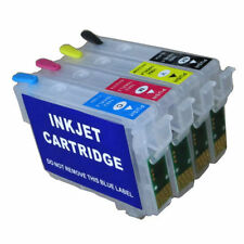 4 refillable Ink Cartridges For Epson WF-3620DWF WF-3640DTWF WF-7110DTW WF-7610