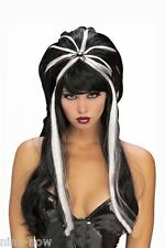 Jewelled Spider Goth Witch Adult Wig Halloween Women's Fancy Dress Costume Wig