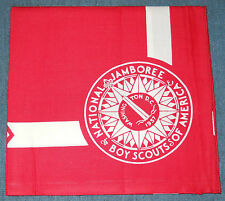 1937 National Boy Scout Jamboree FULL SQUARE Red Youth Neckerchief Jambo Jam NJ