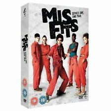 Misfits  E4 Series - Complete Seasons 1, 2 Including DVD 4 Disc Box Set New