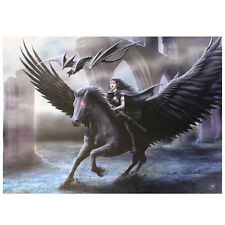 REALM OF DARKNESS CANVAS HANGING WALL PLAQUE ANNE STOKES 70CM WIDE WP_03835