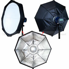 "24""Foldable Beauty Dish Flash Reflector Diffuser Softbox for Comet Studio Light"