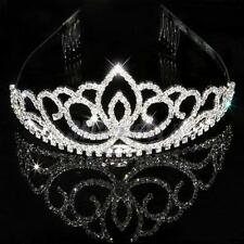 Bridal Bridesmaid Wedding Party Crystal Diamante Crown Headband Tiara Hair Comb