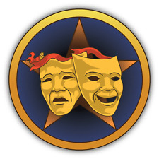 "Masks Comedy Tragedy Theater Car Bumper Sticker Decal 5"" x 5"""