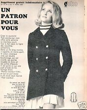Patron de couture Echo de la mode  manteau Ted Lapidus