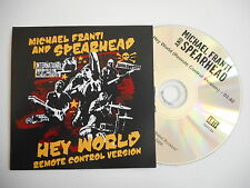 MICHAEL FRANTI and SPEARHEAD : HEY WORLD [ CD SINGLE ] ~ PORT GRATUIT