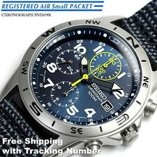SEIKO SND379 SND379R Chronograph 100m Blue New Men's Watch Japan Free Shipping