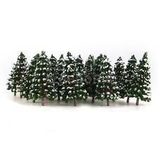 20 Winter Pine Tree w/Snow N Model Train Forest Street Scenery Architecture