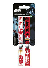 Disney Star Wars Rogue One (Rebel) Pack Of 2 Fabric Festival Wristbands FWR68078