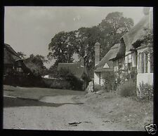 Glass Magic Lantern Slide WELFORD ON AVON BOAT COTTAGE C1910 WARWICKSHIRE