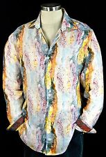 "Robert Graham ""Amaro"" NWT $298 Paint Splatter Light Weight Sports Shirt 4XL"