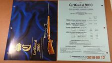 1993 Carl Gustaf SWEDEN RIFLE Catalog CG2000 DEALER/RETAIL PRICE LIST
