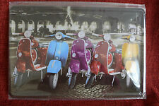 Vespa Metal Sign Painted Poster Comics Book Superhero Wall Decor Art