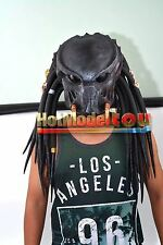 Tracker Predator Costume halloween Latex Mask Scary Alien Cosplay Full Face