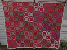 Vintage quilt robbing peter to pay paul star reds