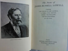 THE POEMS OF JAMES RUSSELL LOWELL.1ST H/B 1926 OXFORD