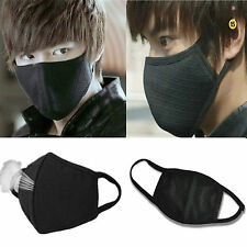 2pc BLACK Unisex Men Women Cycling Anti-Dust Cotton Mouth Face Mask Respirator #