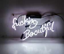 """""""Fvcking Beautiful"""" Home Wall Poster Sexy Beer Bar LED NEON Sign Light TN081"""