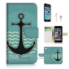 iPhone 7 (4.7') Flip Wallet Case Cover P0609 Anchor Sailor