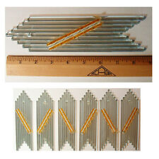 Vintage Chandelier Parts Glass Rods Chevron Shape 2 1/8 by 8 5/8  Lot of 6pc