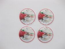 12 PRE CUT EDIBLE RICE WAFER PAPER CARD VINTAGE HIGH TEA CUPCAKE TOPPERS 2
