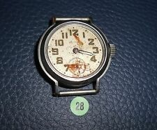 28)⌚ WALTHAM 40er Vintage Military Watch WW II WK 2 US Army Parts Case Mouvement