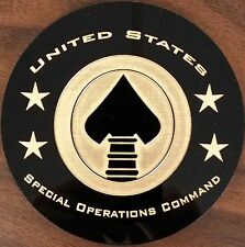 "USSOC United States Special Operations Command 5"" Acrylic Disk Sign Made in USA"